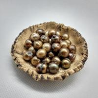 Prsten zlatá říční perla.