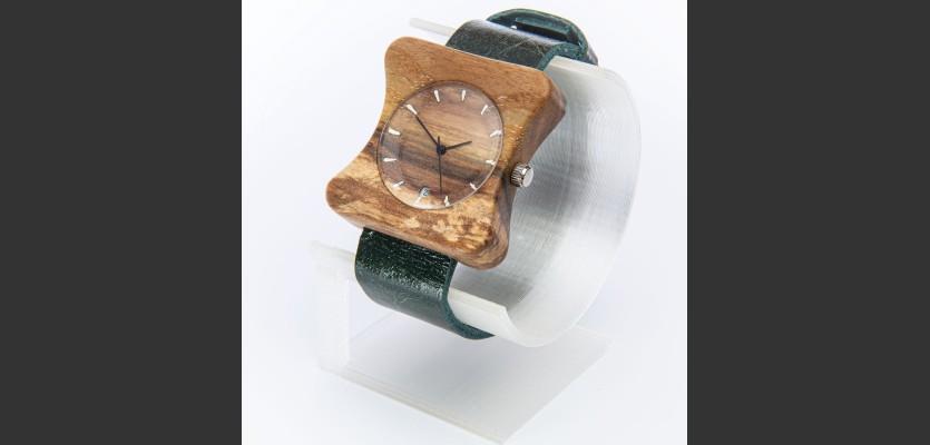 Dřevěné hodinky Edison Ořechové - V.Č.: 00183