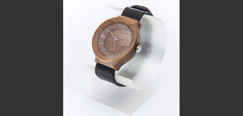 Dřevěné hodinky Scala Ořech - V.Č.: 00162