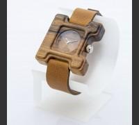 Dřevěné hodinky Hercule Poirot Ořech - V.Č.: 00126
