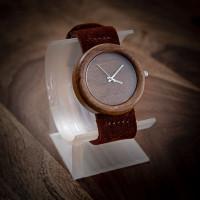 Dřevěné hodinky Orania Ořechové - V.Č.: 000132