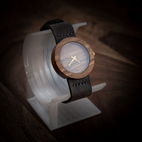 Dřevěné hodinky Alfa Ořechové - V.Č.: 00135