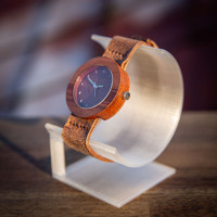 Dřevěné hodinky Alfa Meruňkové - V.Č.: 00138