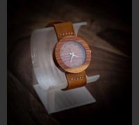 Dřevěné hodinky Alfa Slivoň Bluma - V.Č.: 00141