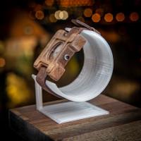 Dřevěné hodinky Hercule Poirot Ořech - V.Č.: 00144