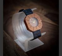 Dřevěné hodinky Art Ořech - V.Č.: 00146