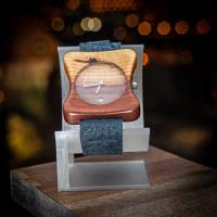 Dřevěné hodinky Edison Švestkové - V.Č.: 00147