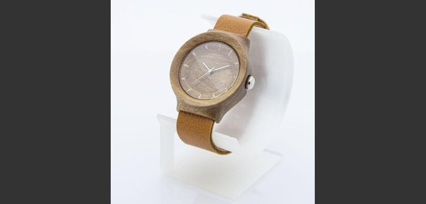 Dřevěné hodinky Scala Ořech - V.Č.: 00163