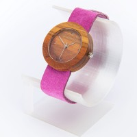 Dřevěné hodinky Alfa Višeň - V.Č.: 00177