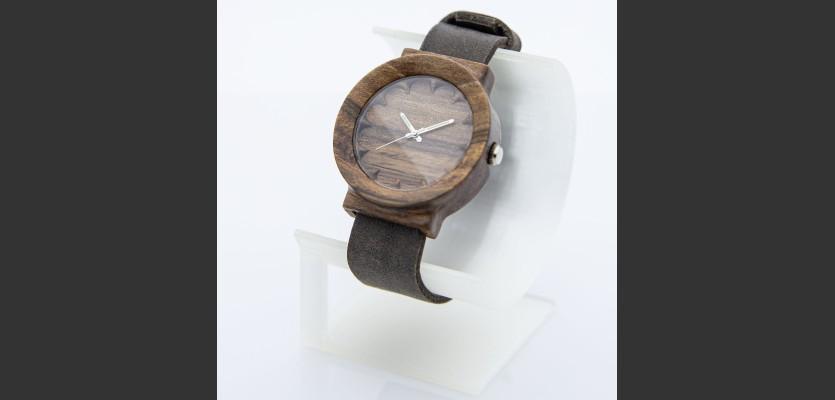 Dřevěné hodinky Scala Ořech - V.Č.: 00187