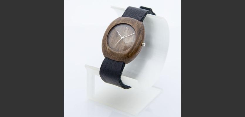 Dřevěné hodinky Club Ořechové - V.Č.: 00197