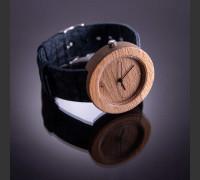 Dřevěné hodinky Alfa Bukové - V.Č.: 00033