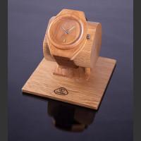 Dřevěné hodinky Aladin Třešňovohabrové - V.Č.: 00112