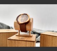 Dřevěné hodinky Excelsior Švestkové - V.Č.: 00052