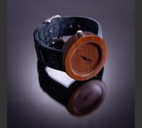 Dřevěné hodinky Alfa Meruňkové - V.Č.: 00065