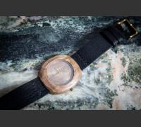 Dřevěné hodinky Club Ořechové - V.Č.: 00093