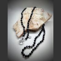 123. Náhrdelník Boho Mala, talisman ochrany.