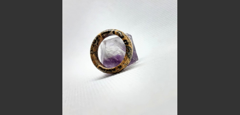 80. Prsten Jaspis leopardí, prsten přijetí.