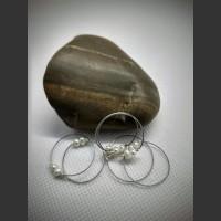 176. Prsten bílá perla duo