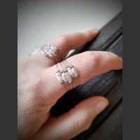 199. Prsten bílá nepravidelná