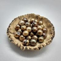89. Prsten zlatá říční perla.