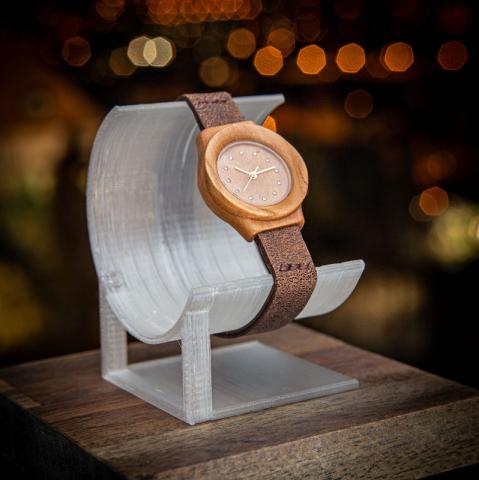 """Dřevěné hodinky model """"Union"""", vyrobeno z vrbového dřeva."""